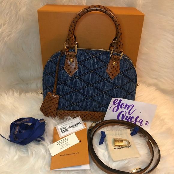 39b04c83ad1 Authentic Brand New Louis Vuitton Alma BB Denim NWT